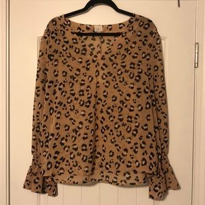Chiffon Animal Print Top